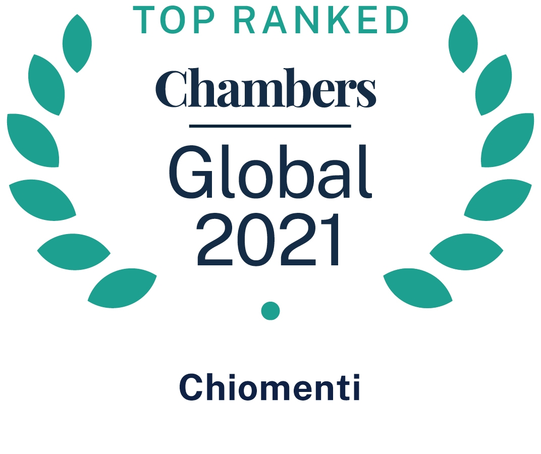 Chambers Global 2021: top ranking confirmed for Chiomenti's practices and individuals