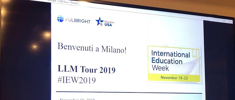 Chiomenti hosts LLM Tour 2019 - International Education Week (18-22 November 2019)