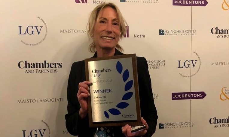 "Chiomenti won the  ""Client Service Award"" at the 1° edition of Chambers and Partners Italy Awards 2019"