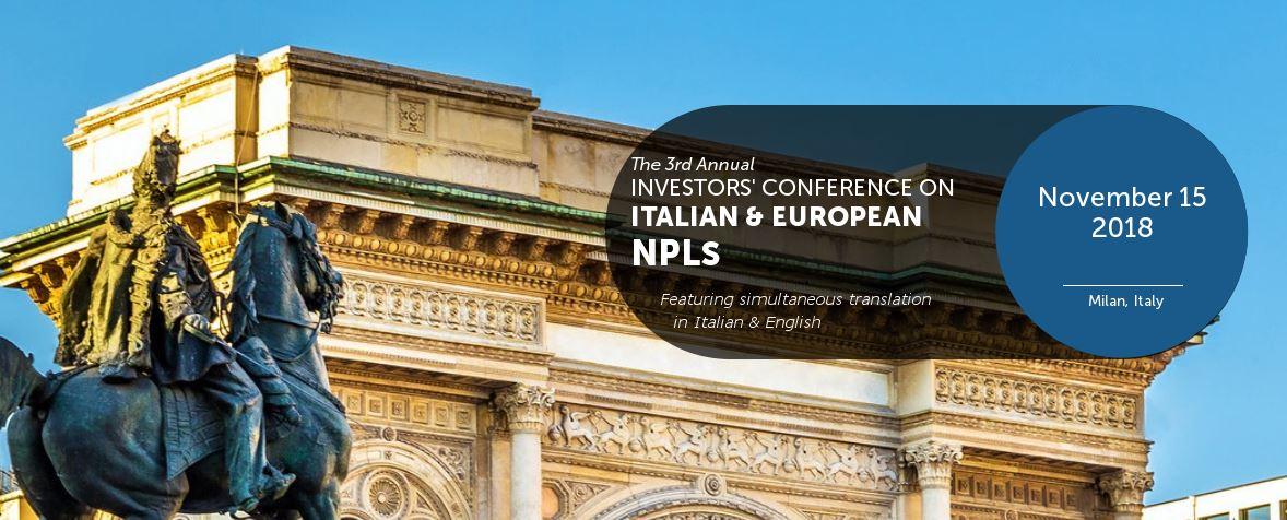 IMN 3rd Annual Investors'Conference on Italian & European NPLs – 15 November 2018, Milan