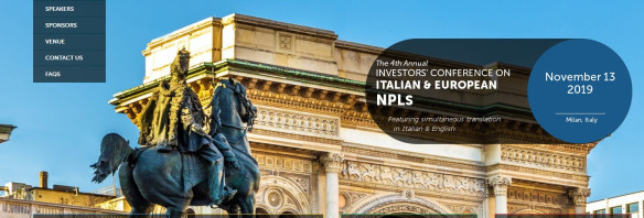 IMN's 4th Annual Investors' Conference on Italian & European NPLs – 13 November 2019, Milan