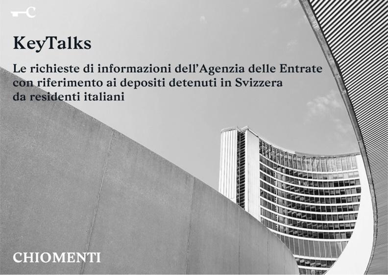 """Key Talks """"Le richieste di informazioni dell'Agenzia delle Entrate"""" – 30 gennaio 2020, Milano"""