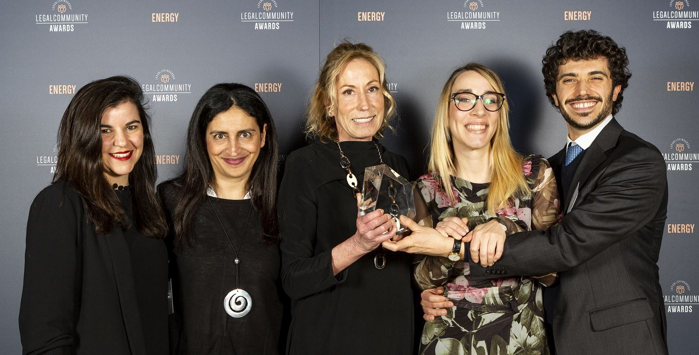"Legalcommunity Energy Awards 2019: Chiomenti ""Law firm of the year – Project Finance"""