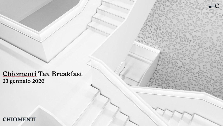 """Tax Breakfast """"Gli impatti fiscali dell'adozione dell'IFRS 16"""" – 23 gennaio 2020, Milano"""