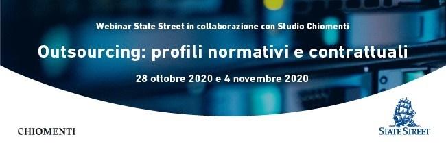 """Webinar """"Outsourcing: profili normativi e contrattuali"""" - 28 ottobre e 4 novembre 2020"""