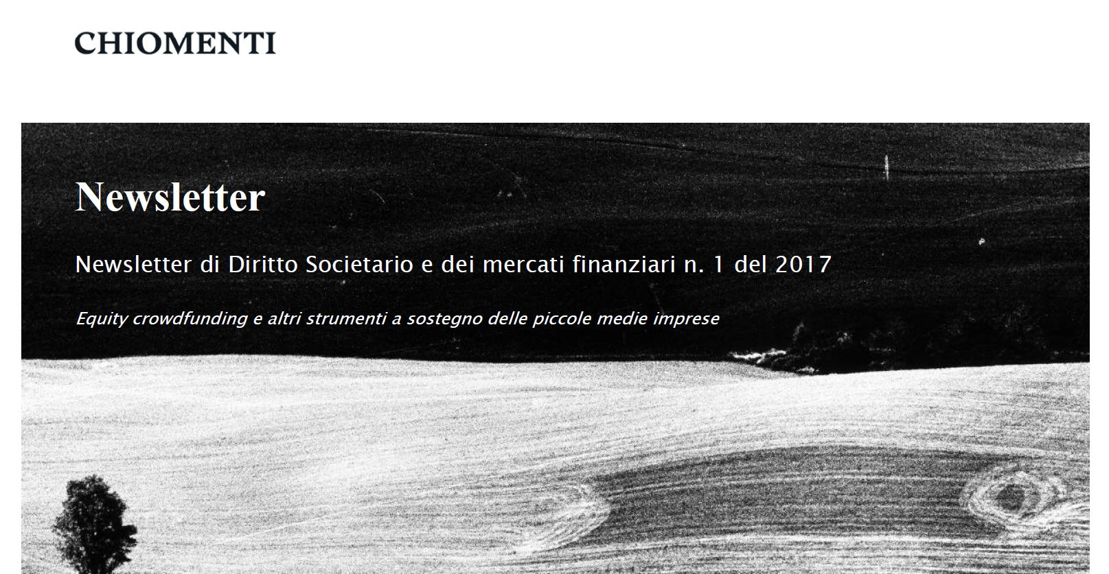 "Newsletter Chiomenti n.1/2017: ""The new tax regime applicable to investments made by managers and employees through the grant of enhanced economic rights (i.e., carried interest)"""