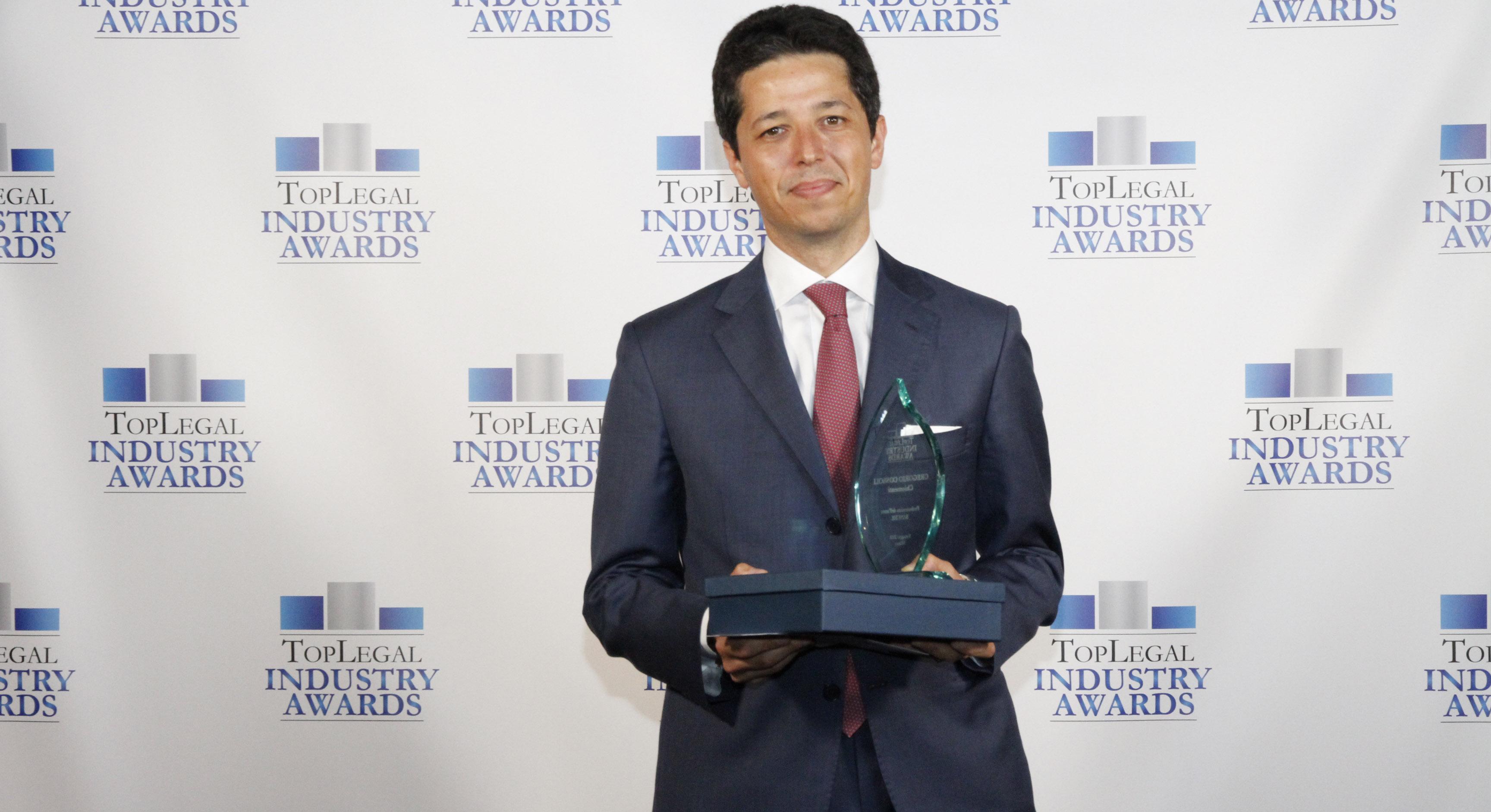"""TopLegal Industry Awards 2018: Chiomenti premiato come """"Studio dell'anno Real Estate"""" e Gregorio Consoli come """"Avvocato dell'Anno Banche"""""""