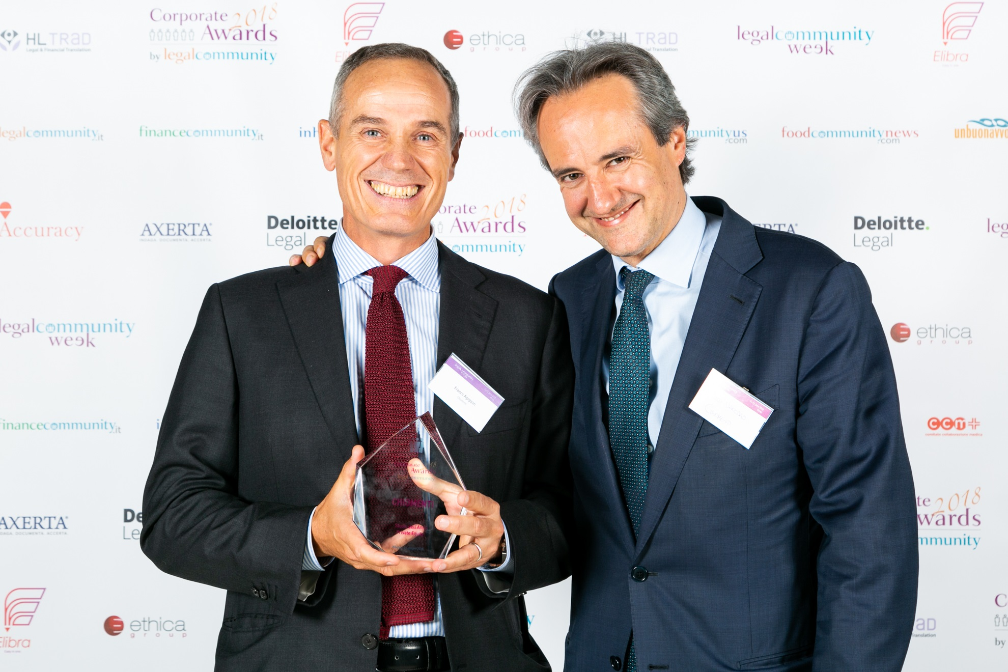 "Legalcommunity Corporate Awards: Chiomenti awarded as ""Private Equity Law Firm of the Year 2018"""