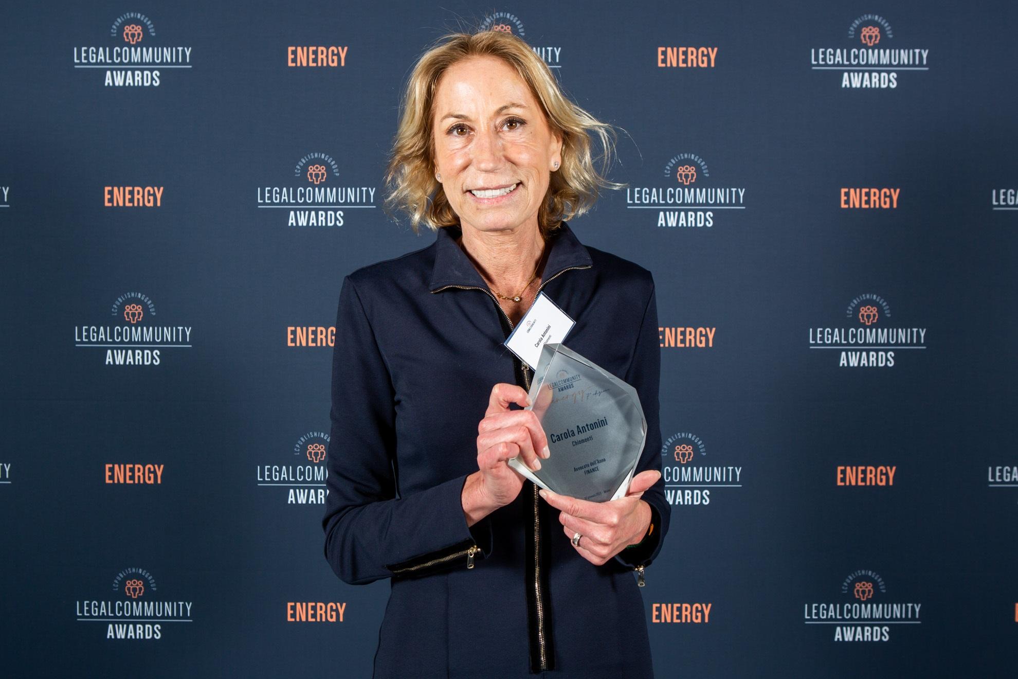 "Legalcommunity Energy Awards 2020 : Carola Antonini ""Avvocato dell'anno finanza"""