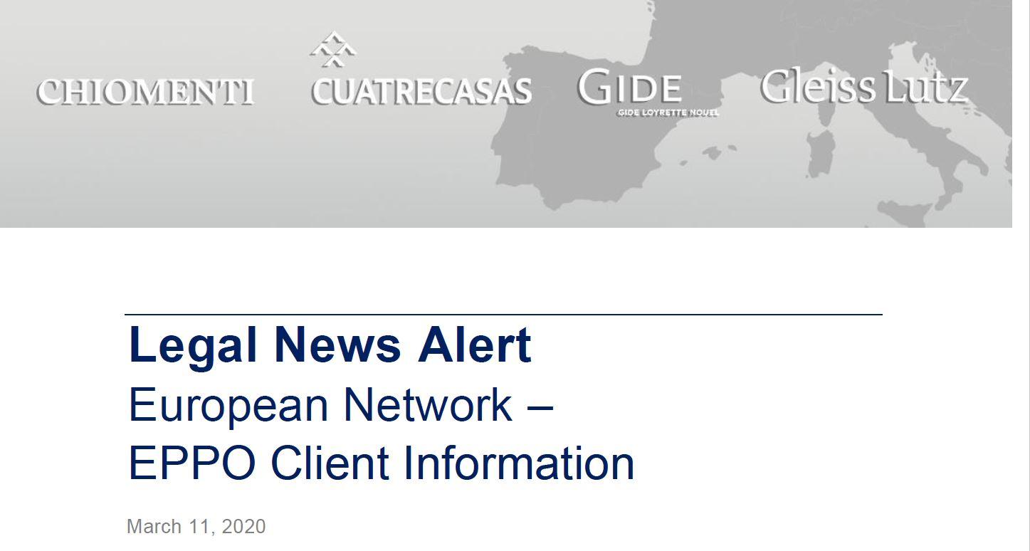 NewsAlert European Network – EPPO Client Information